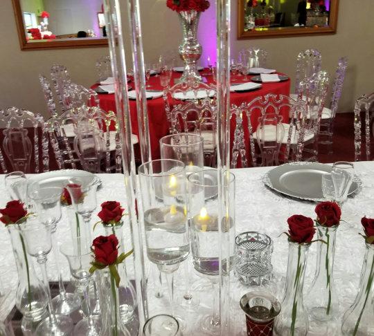 wine glasses prepared for events
