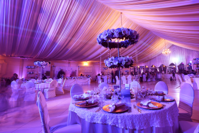 luxurious decorations and settings of event
